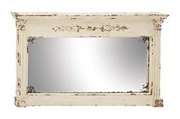"Deco 79 Wood Wall Mirror 59"" W, 36"" H-14839, White"