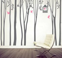 X Large Tree Forest Bird Vinyl Wall Art Sticker Decal Living