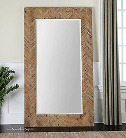 XL HOME DECOR WOOD FRAME RECTANGULAR BEVELED WALL FLOOR VANI