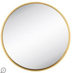 XXL  Round Gold Metal Wall Mirror  Huge Piece Modern Glam Ho