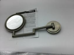 MOEN YB0892BN ARRIS 5X WALLMOUNT MAGNIFYING MIRROR, BRUSHED